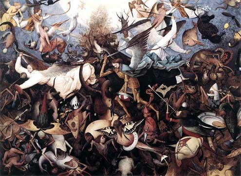 """Картина художника Брейгель Питер """"Падение ангелов. Возрождение"""". 1562 г."""